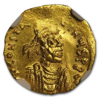 Byzantine Gold Tremississ Emp Constans II (641-668 AD) MS NGC - SKU#204210