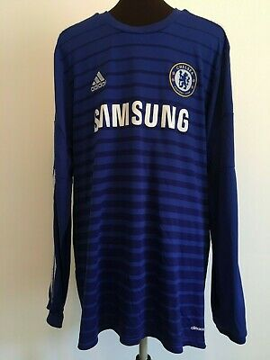 Official Adidas Chelsea Home Long Sleeve Football Shirt Size Adult X-Large