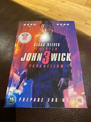 John Wick Chapter 3 - Parabellum (DVD, 2019) Mint, watched once