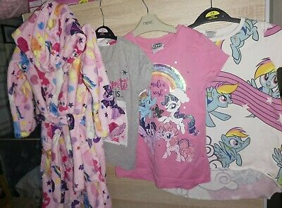 Girls My Little Pony Clothing Bundle Age 5-6 6-7 Next TU Dressing Gown Tshirts