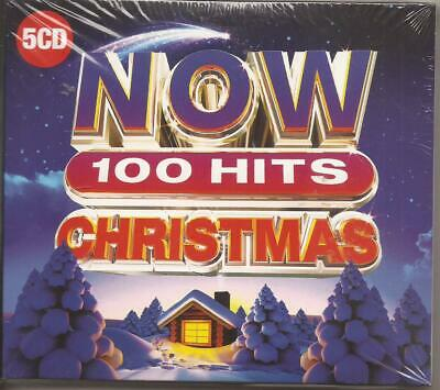 """Now 100 Hits """"Christmas""""  5 X CD Album 100  Track New Sealed"""