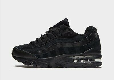 Genuine Air Max 95 Womens Junior Boys Girls Trainers Uk Size 5 All Black