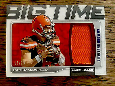 Baker Mayfield 2019 Panini Rookies Stars BIG TIME Relic /25 Browns