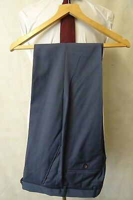 Men's New Blue Suit Trousers Size W30 L33 AA3040