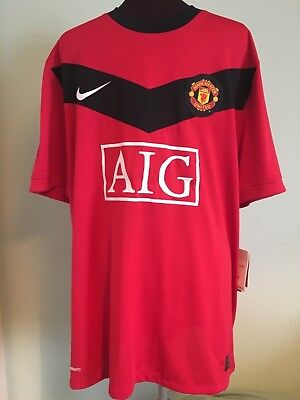 Official Bnwt Manchester United Home Football Shirt By Nike Size Adult X-Large