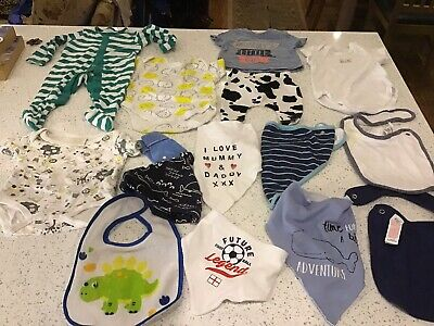 Job Lot Of Baby Clothes And Bibs
