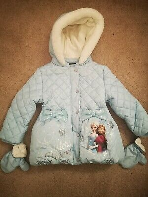 George Baby Toddler Girls Frozen Hooded Coat Age 2-3 Years - Worn Once