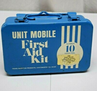 Vintage Trans-American First Aid Kit RARE NO.10 Box Only Metal Waterproof