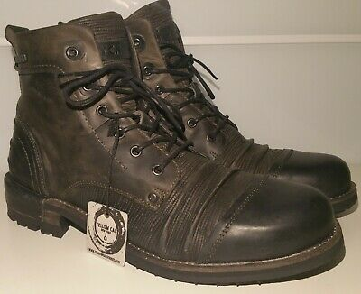 Details zu Yellow Cab YCNY Boots 42 Oliv Used Schnürboots Stiefel LEDER Made Portugal NEU