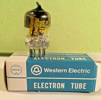 WESTERN ELECTRIC WE 417A Tube NIB 1979 lot 2833 tested 26