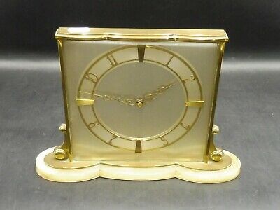 Stunning Marble Based 1930's / 40's English Art Deco Mantle Clock
