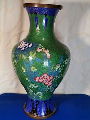 Chinese Cloisonne Vase With Floral Decoration