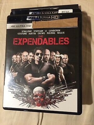 Expendables Trilogy, 1-3 (4K UHD Blu-ray) + Slipcover, >> NO DIGITAL  Codes