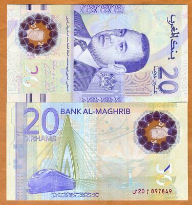 Morocco, 20 Dirhams, 2019,  P-New, Polymer, UNC > Commemorative