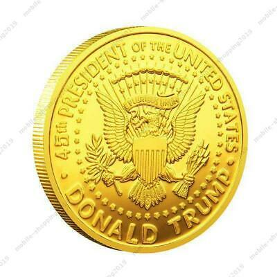 2020 President Donald Trump Liberty Gold Plated EAGLE Commemorative Coin @MY