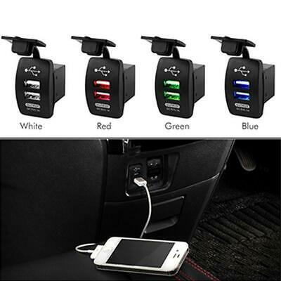 Universal Twin Dual Double Port 2 USB 12V In Car Socket Charger Adapter Lig Q5M5