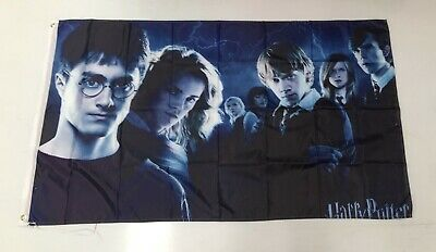 Harry Potter Banner Flag - Movie Character Costume Wand Poster Mancave Books