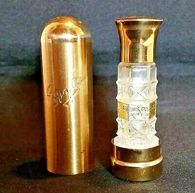 Vintage Evyan White Shoulders Bottle with Lipstick Style Metal Case Container