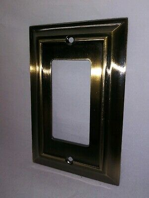 VINTAGE metal brass light switch plate cover
