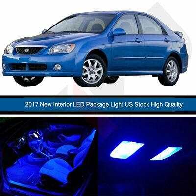 6x Blue LED lights interior package kit for 2005-2013 KIA Spectra5 KP1B