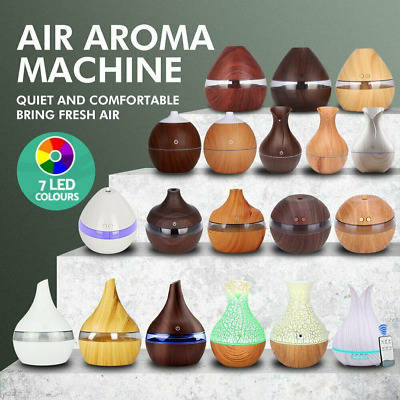 LED Humidifier Essential Oil USB Diffuser Aroma Aromatherapy Purifier Cool Mist