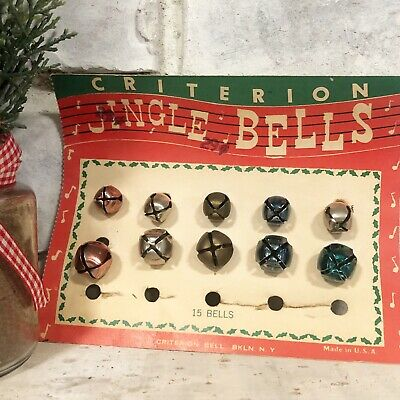 Vintage Jingle Bells on Card Criterion Christmas Colored Colors