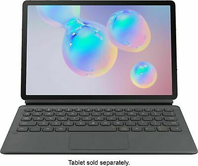 NEW Samsung - Book Cover Keyboard for Samsung Galaxy Tab S6 - Gray