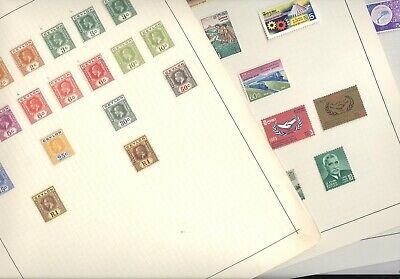 CEYLON, Excellent Assortment of Mint Stamps hinged on pages