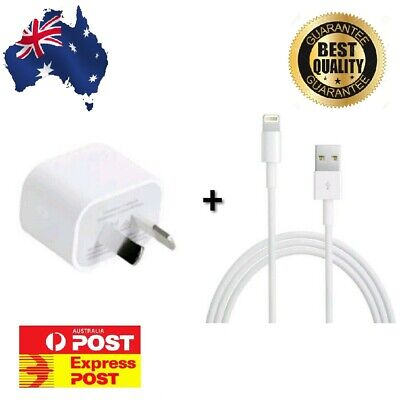 GENUINE Apple Wall Charger + Lightning Cable For iPhone 7 8 X XR XS AU SELLER