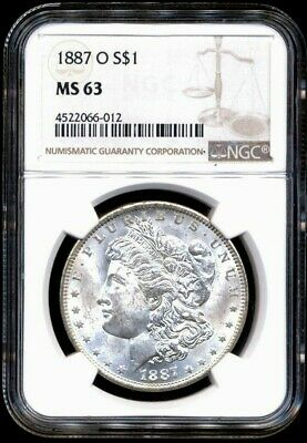 1887-O Morgan NGC MS-63 Uncirculated Silver Dollar Coin Nice New Orleans Mint