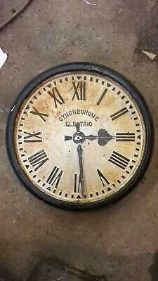 Synchronome Clock Cast Iron Electric Slave Railway Station Clock ? Factory clock
