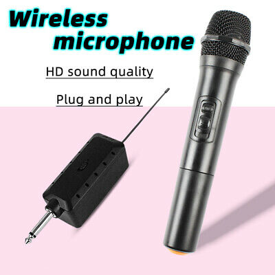 Home Stage Dual Channel Wireless Microphone Karaoke VHF Mic Receiver Adapter