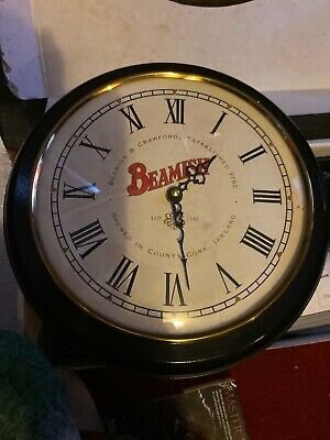 Vintage Retro BEAMISM Stout Beer Wall Clock Antique Pub Advertising Works