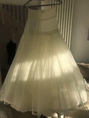 Wedding Dress Underskirt With Hoop and pretty lace edge Jupon Fits size 10-12