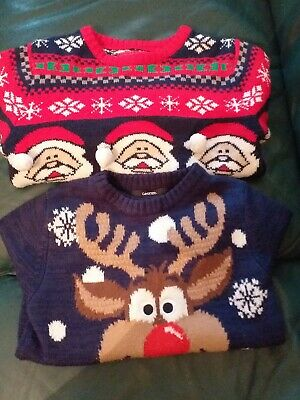 Childs Christmas Jumper X2 Age 6-7yrs