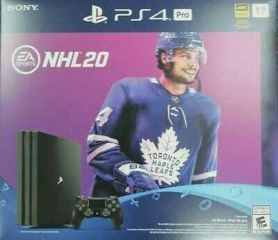 Sony Playstation 4 Pro PS4 Pro 1TB 4K HDR Console NHL 20 Bundle