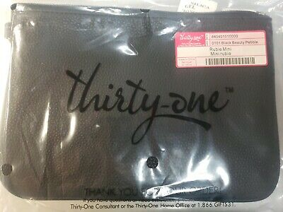 Thirty-One Thirtyone 31 Gifts Rubie Mini - Brand New - Black Beauty Pebble