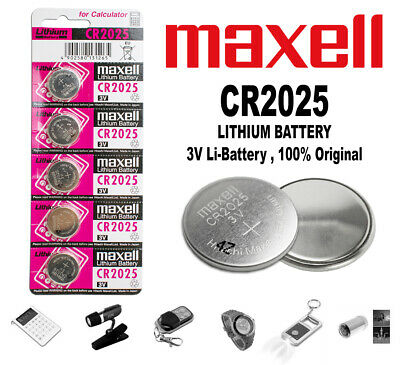 Pilas Pila Boton Maxell Bateria Litio De Calidad Cr 2025 3V Lithium Battery