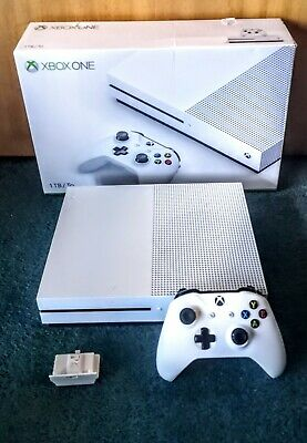 Microsoft Xbox One S 1TB White Console with Rechargeable Battery Pack