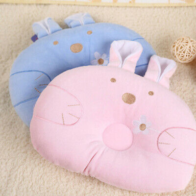 Newborn Pillow Soft Neck Support Rabbit Shaped Baby Shaping Cotton Cushion 8C