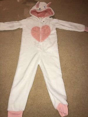 GIRLS ALL IN ONE WHITE & PEACH AGe 4-5 Yrs