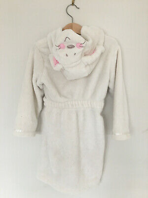 Girls Cream Fluffy Bunny Dressing gown Age 2-3 yrs