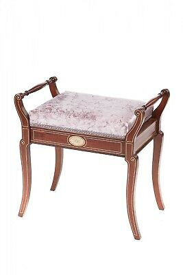 Quality Antique Mahogany Freestanding Inlaid Piano Stool