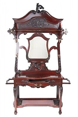 Quality Victorian Carved Mahogany Hallstand