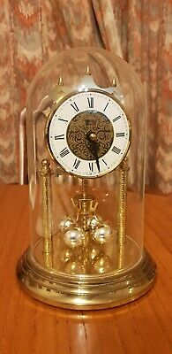 Vintage Acctim 400Day Torsion Anniversary Dome Clock Haller Quartz West German