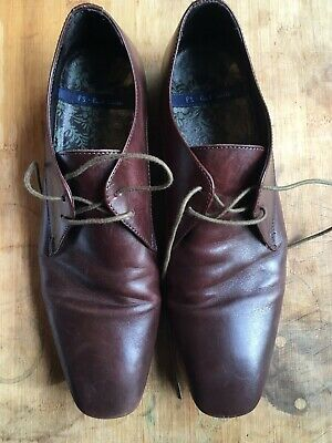 Paul Smith Leather Shoes Size UK 8 RICHIE BROWN