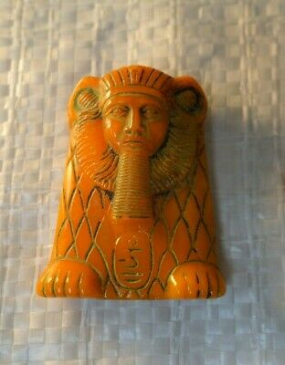 Czech Art DECO  Egyptian REVIVAL  PHARAOH  ART Glass  Jewelry  CABOCHON