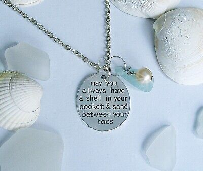Beach Stainless Steel Charms always have a shell in your pocket BFS3678