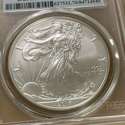 2017-W $1 Burnished Silver American Eagle PCGS First Strike SP70  - 545