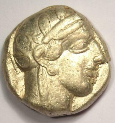 Ancient Athens Greece Athena Owl Tetradrachm Silver Coin (454-404 BC)- Choice VF